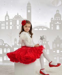 Red tutu pettiskirt