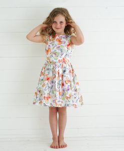 orange butterfly dress