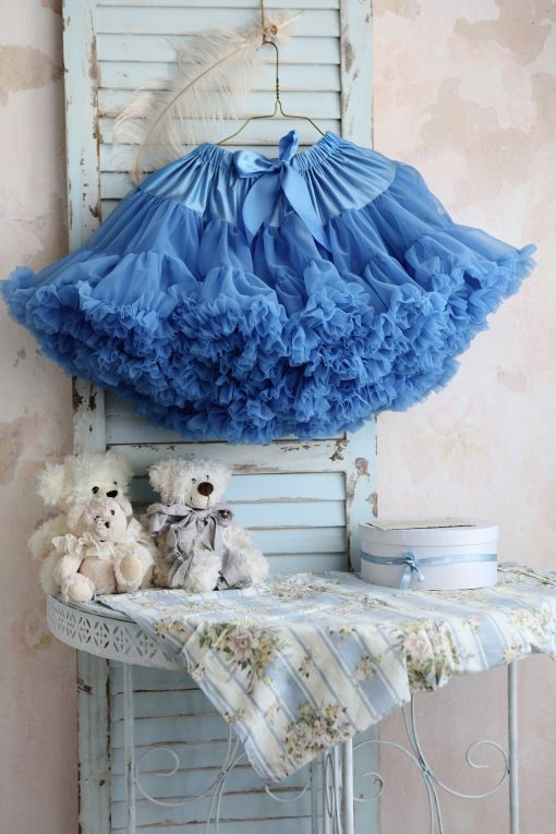 """Amabelle"" Diamond Blue Tutu Pettiskirt"