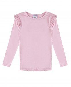 Rose Pink Long Sleeve Wings T-shirt