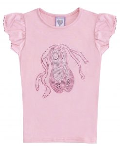 Pink Short Sleeve Ballet Shoes T-shirt