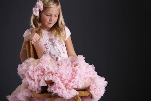 Pink Short Sleeve Ballet Shoes T-shirt