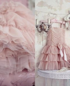 """Amabelle"" Rose Gold Dreamy Layered Dress"
