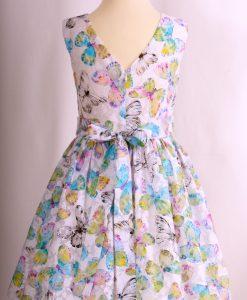 """""""Nora"""" Sleeveless Butterfly Dress - Blue"""