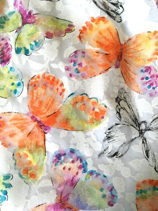 """Nora"" Sleeveless Butterfly Dress - Orange"
