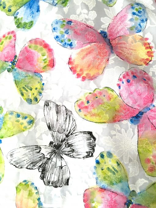"""Nora"" Sleeveless Butterfly Dress - Pink"