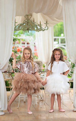 """Amabelle"" Off-White Glamorous Sequin Dress"