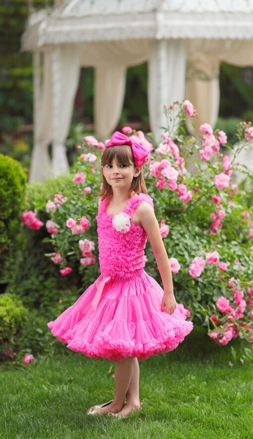 """Amabelle"" Bright Pink Tutu Pettiskirt"