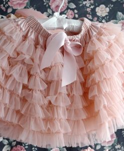 """Amabelle"" Rose Gold Ruffled Tutu Skirt"