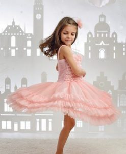 """Amabelle"" Rose Pink Fairy Dress 6"