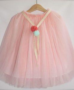 Baby Pink Long Tutu Skirt
