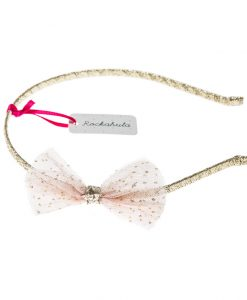 glitter mesh bow alice band rockahula kids